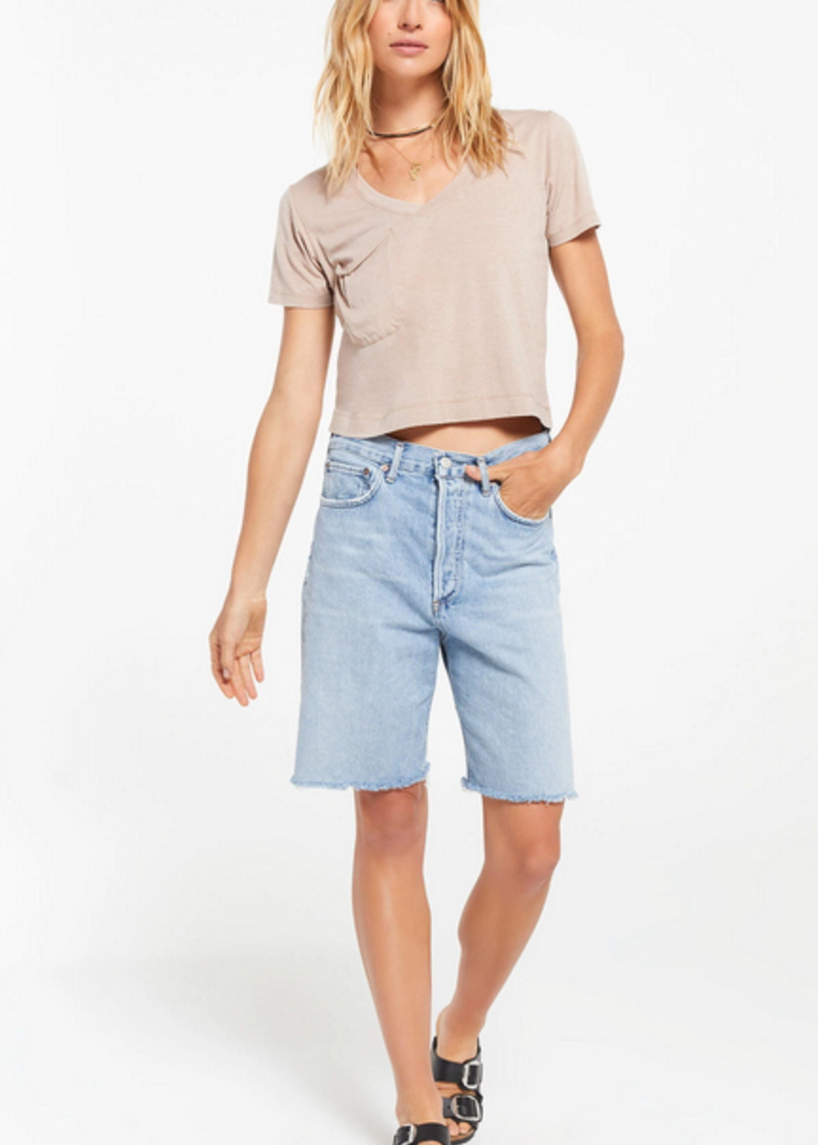 Z SUPPLY Z SUPPLY THE CLASSIC SKIMMER TEE TAUPE