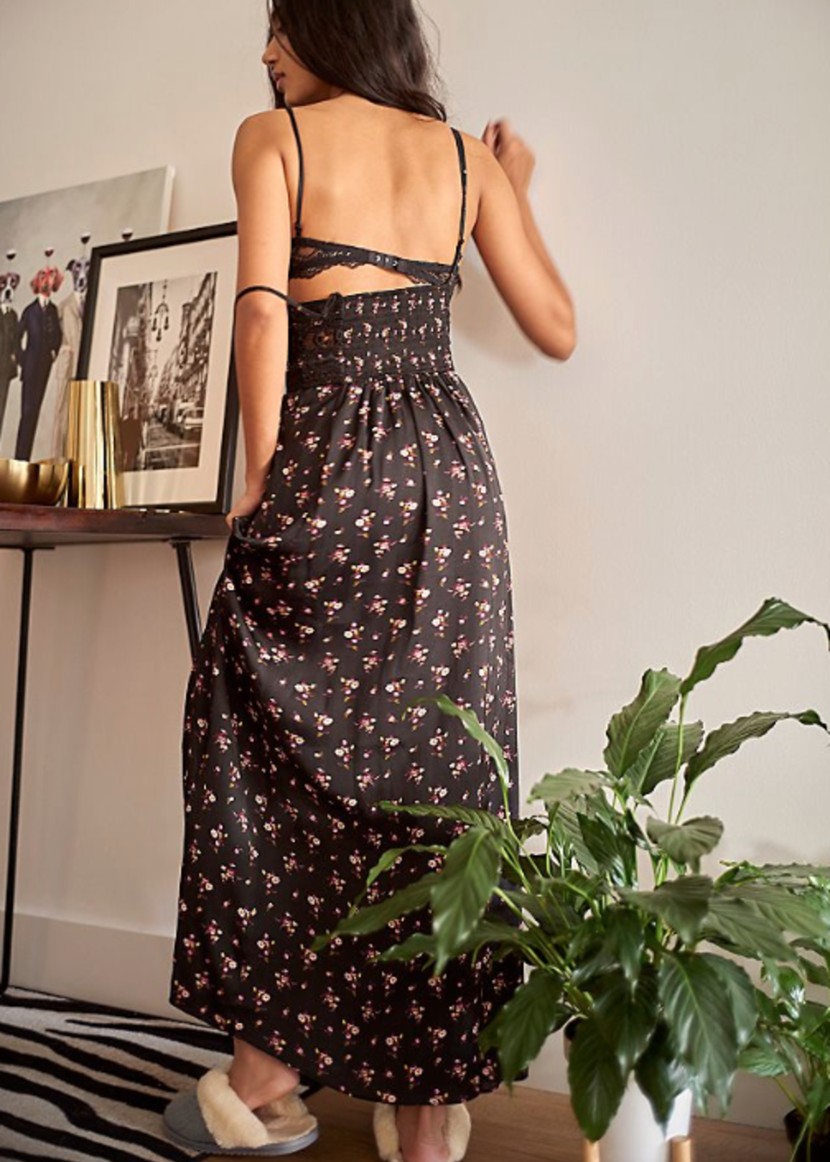 FREE PEOPLE FREE PEOPLE  OUT & ABOUT MAXI BLACK