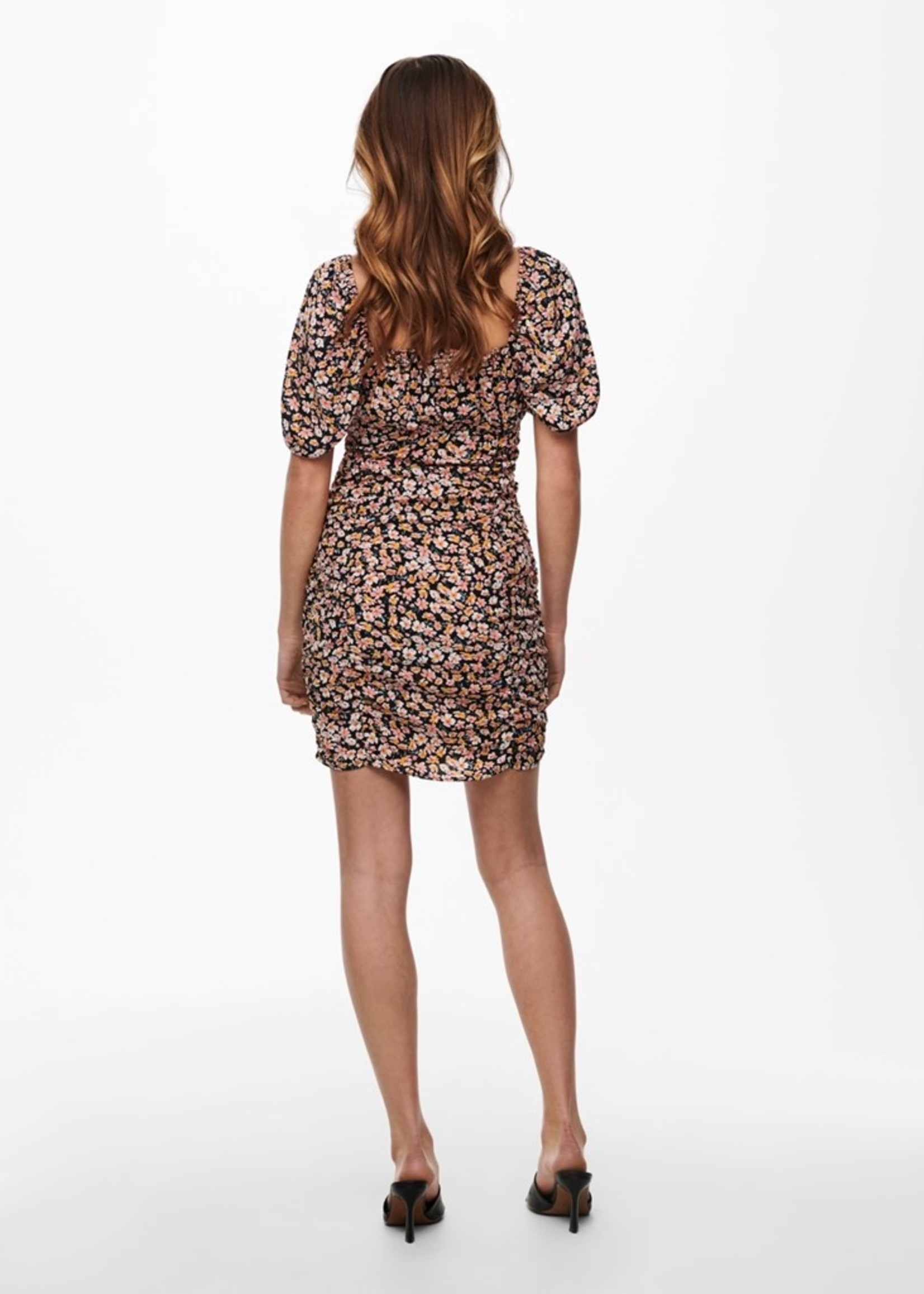 Vero Moda ONLY FUCHSIA RUCHED SIDE DRESS