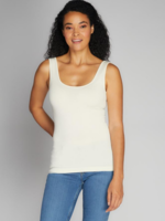 CEST MOI CLOTHING BAMBOO SHORT TANK IVORY