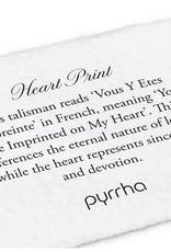 PYRRHA SILVER HEART PRINT