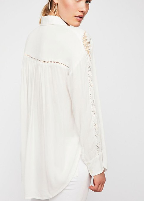 FREE PEOPLE KATIE BIRD BUTTONDOWN