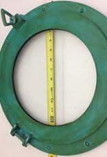 "Porthole Glass Aluminum Green 15"""