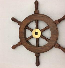 "Sheesham Wood Mini Ship Wheel 9"""