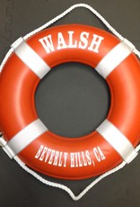 "Fenwick Float-ors Lifering 19"" Orange (Personalized With White Lettering) (USCG Approved)"