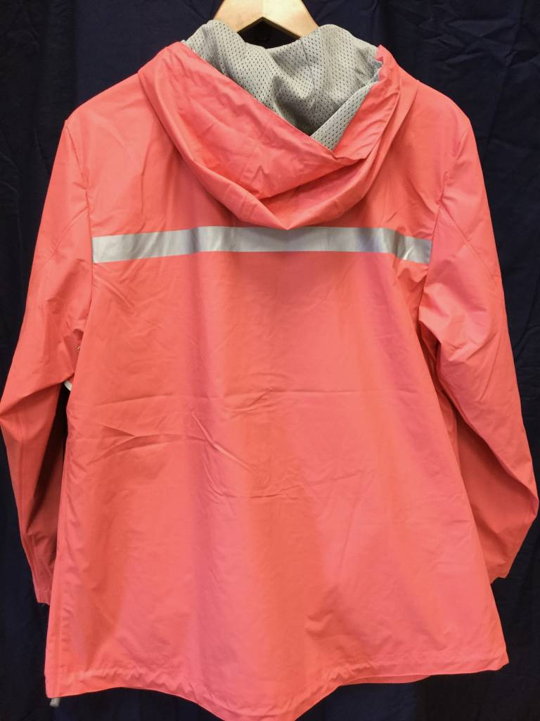 Fenwick Float-ors New Englander Rain Jacket Womens Coral 5099 256 L With Fenwick Float-ors Logo