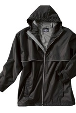 New Englander Rain Jacket Mens Black/Grey Large 9199 010
