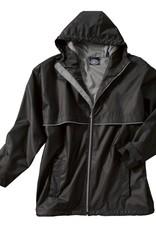New Englander Rain Jacket Mens Black / Gray Medium 9199 010
