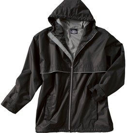New Englander Rain Jacket Mens Black / Gray 9199 010 XL