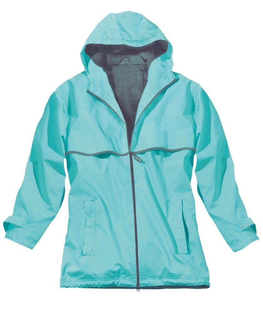 Women's New Englander Rain Jacket Aqua 5099 236 XL
