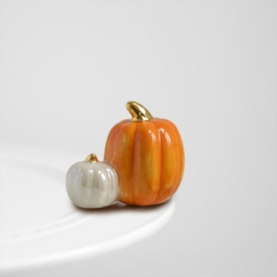 Nora Fleming A02 pumpkin spice (two pumpkins) Minis by Nora Fleming