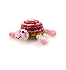 Pebble 200-099TP Turtle Rattle Pink