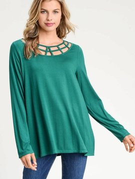 Sue Cage Detail LS Top -