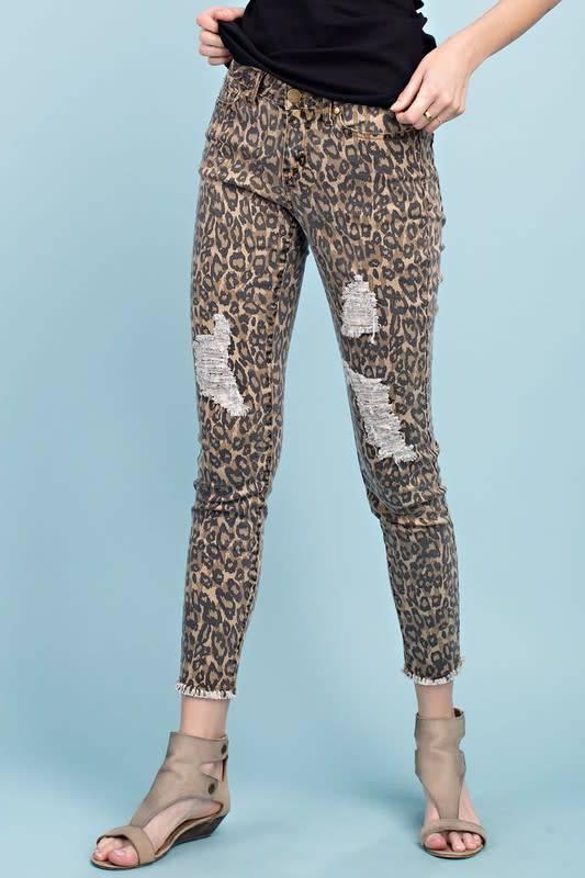 A Little Wild Side Dist. Jeans-