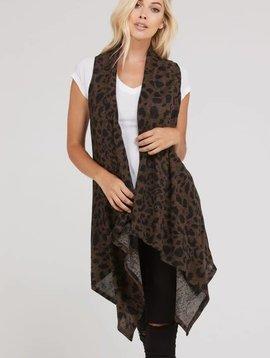 Hear Me Roar Leopard Vest -