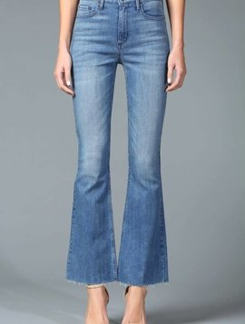 Disclosed High Rise Release Hem Skinny Flare -
