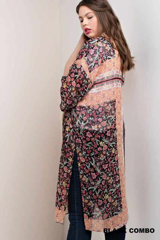 In Bloom Long Floral Kimono -
