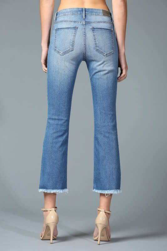Disclosed Mid Rise Cropped Boot Cut Jeans -