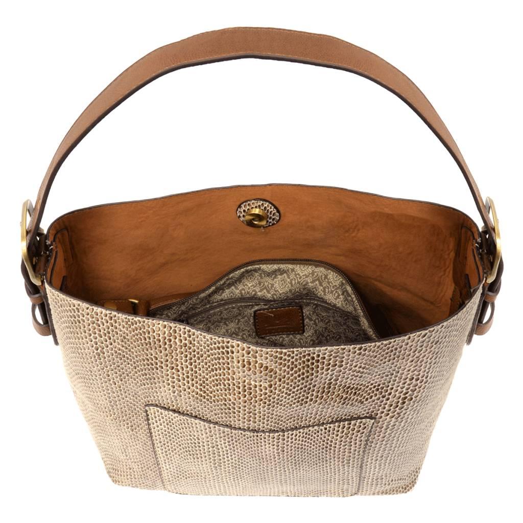 Sara Python Bucket Bag -