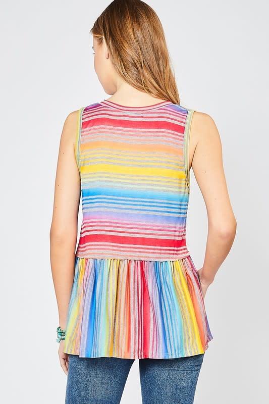 Makes Me Happy Striped SL Top -