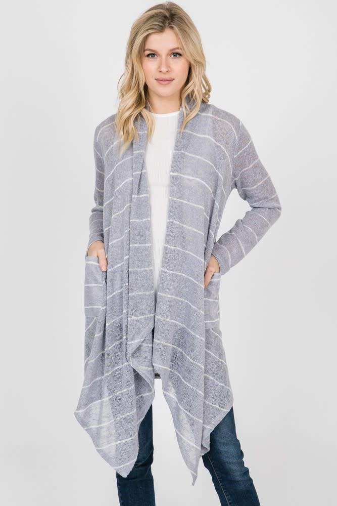 Get Closer Striped Open Cardigan -