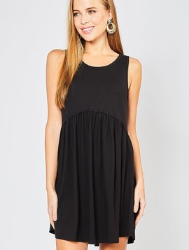 No Effort Necessary Solid Tank Dress -