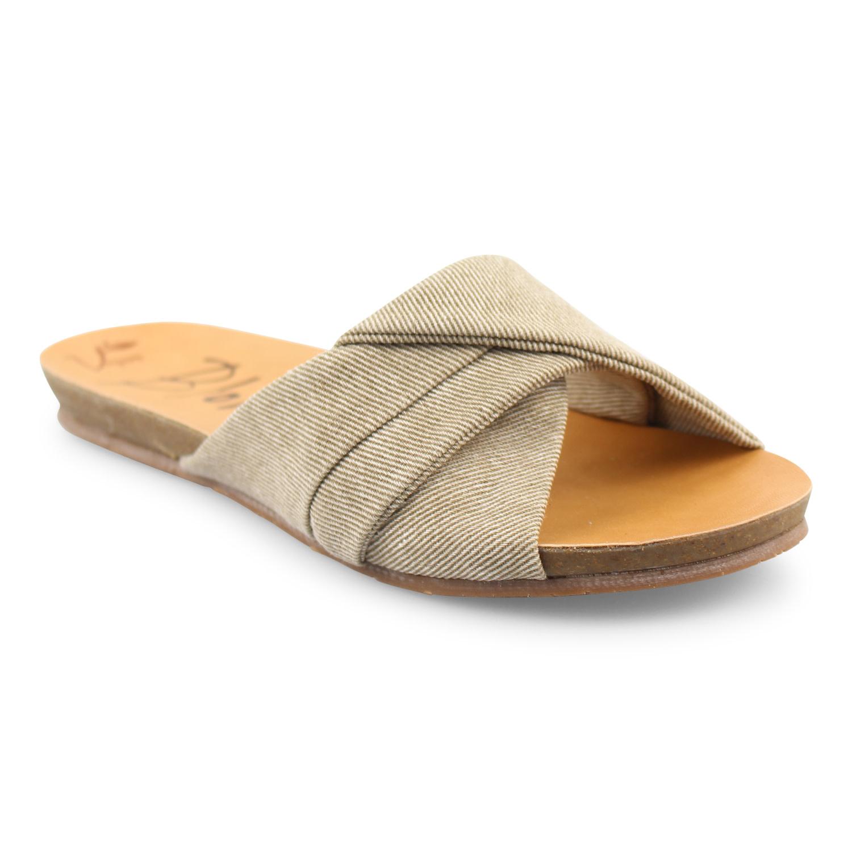 Blowfish Malibu Garliss Slide Style Distressed Sandal -