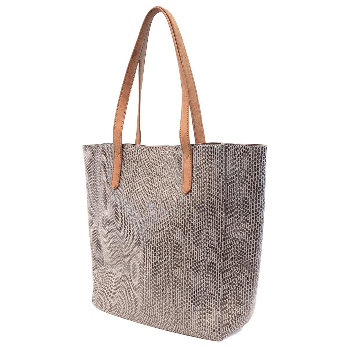 Emma Python Tote Bag -
