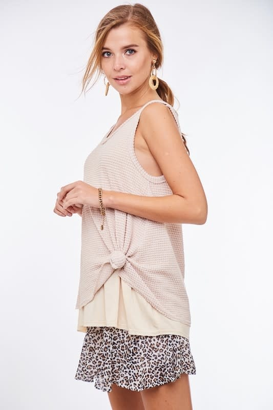 Goes With Everything Waffle Tank Top -
