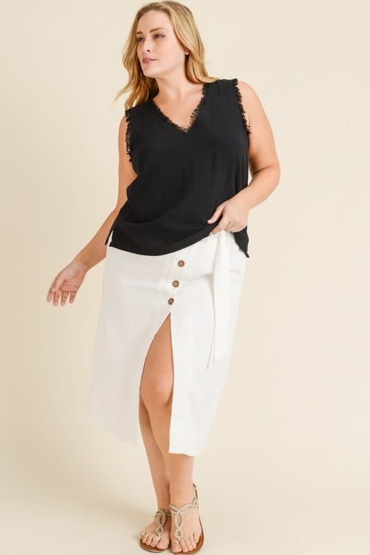In The Fray V-Neck Top -