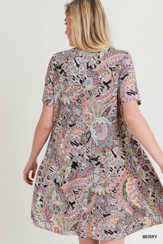 So Easy Paisley Print Dress -
