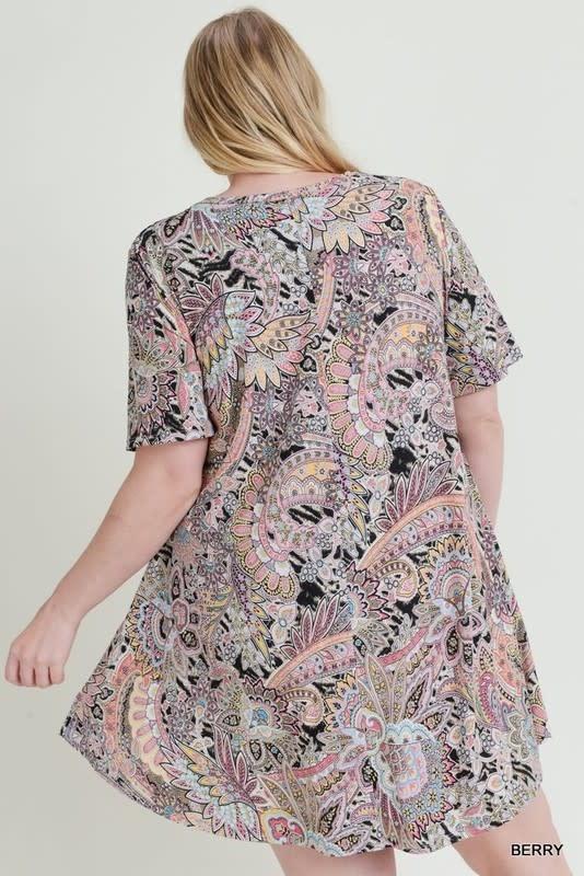 So Easy Paisley Print Dress -
