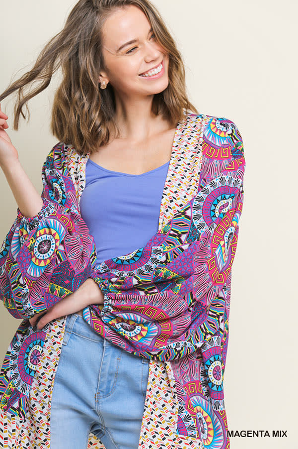 Kaleidoscope Print Kimono -