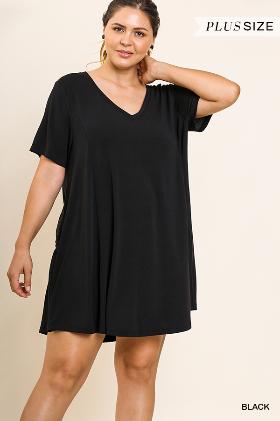 Under Everything V-Neck T-Shirt Dress -