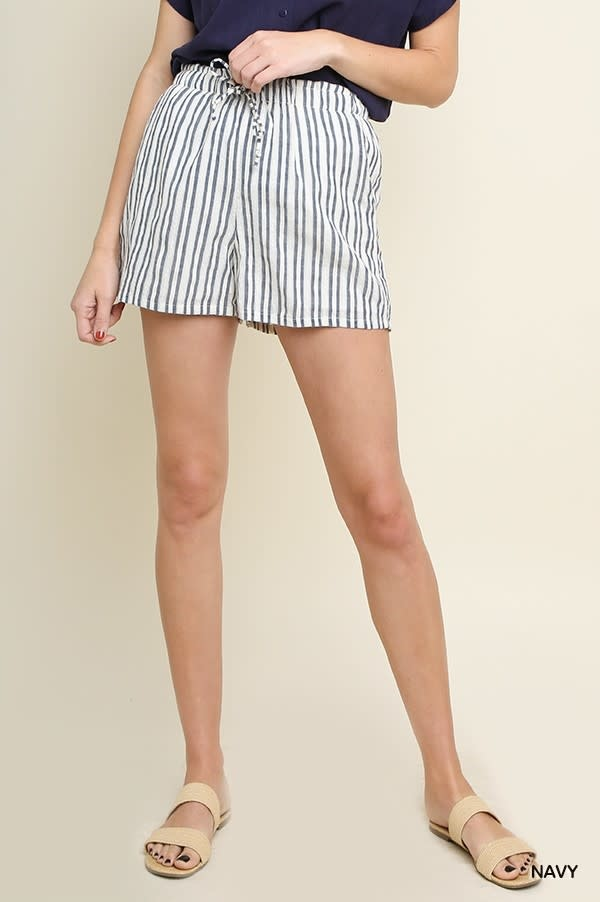 Between The Lines Striped Shorts -