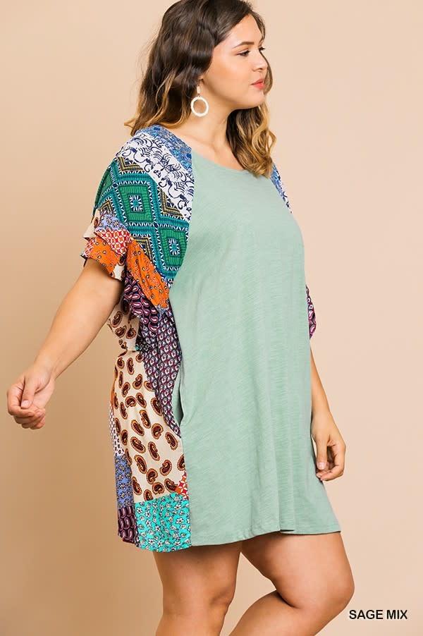 All Around Town  Ruffle Sleeve Dress -
