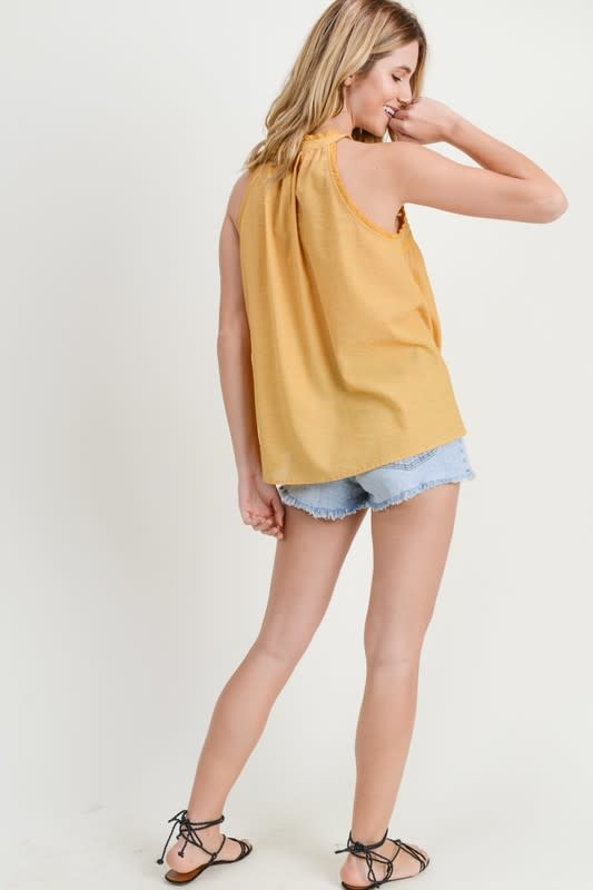 Sunny Disposition Pintuck Detail Top -