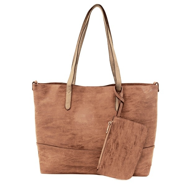 Brushed 2 in 1 Tote -