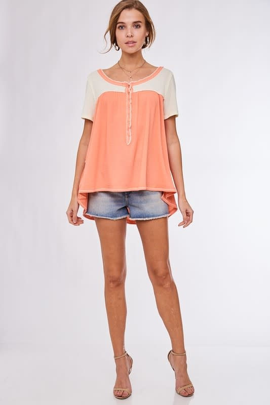 Tickets for Two Color Block Top -