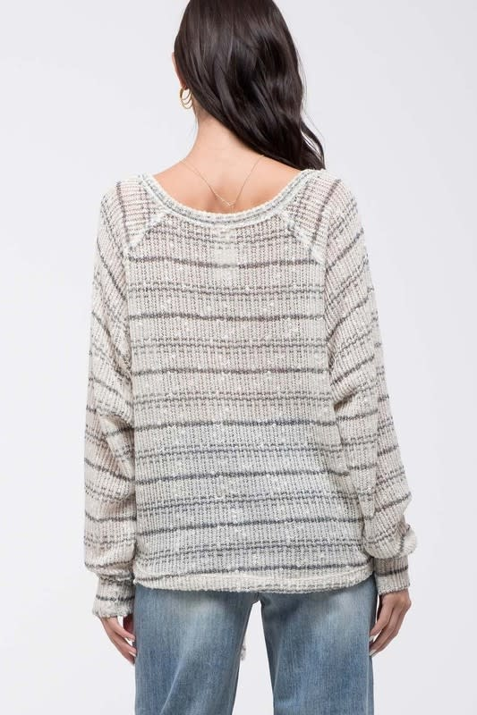 Football Weather Striped LS Top -