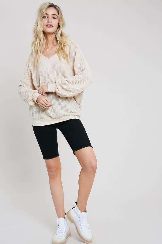 Casual Day Thermal Knit Top -