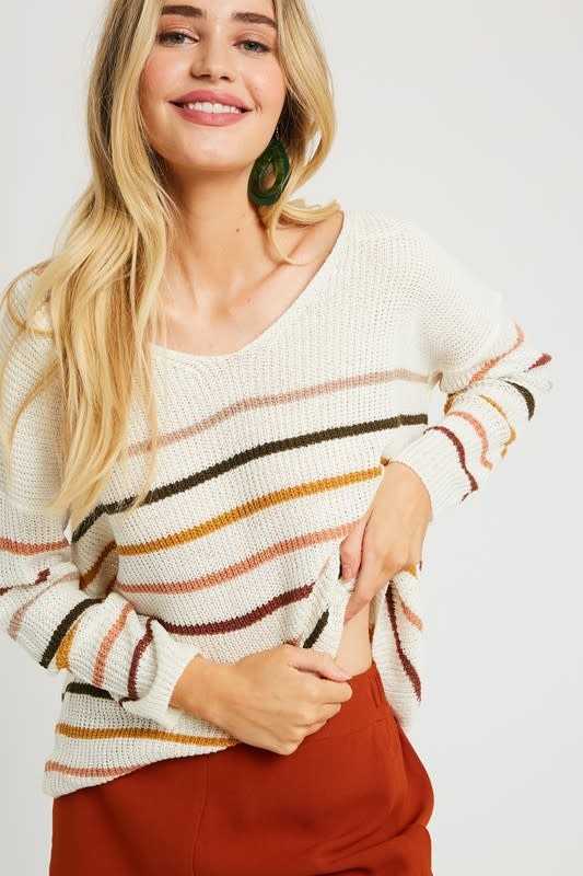 Between the Lines Striped Sweater -