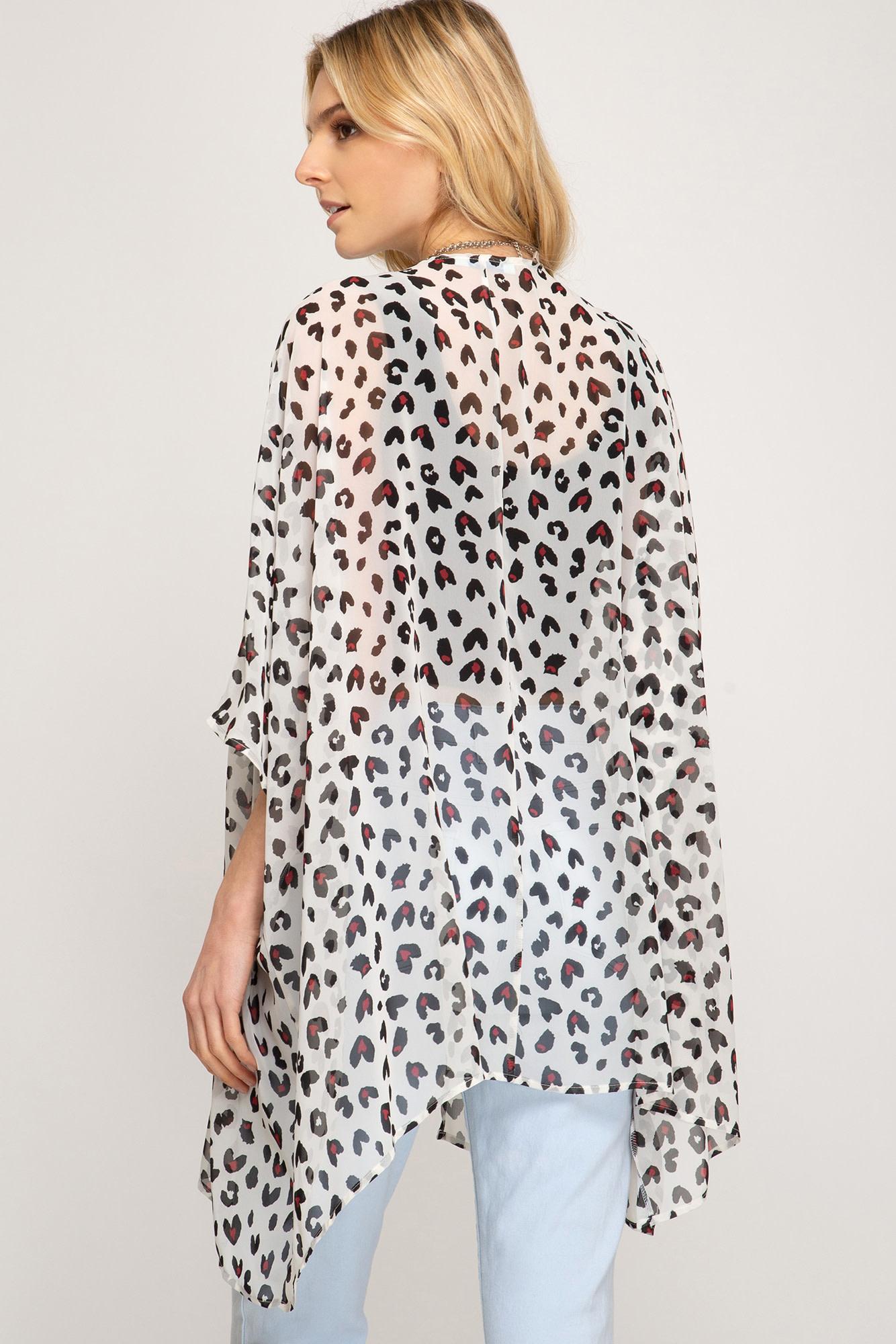 On the Prowl Animal Print Kimono -