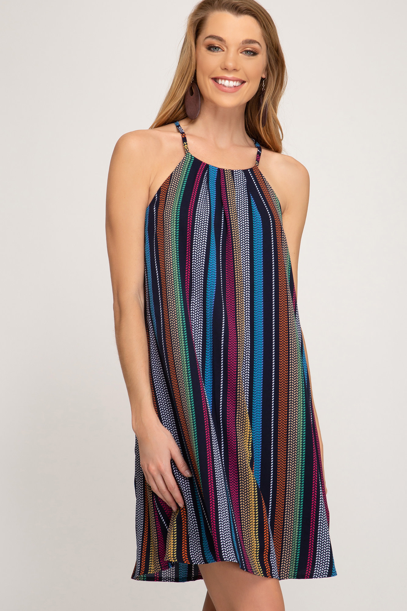 Picture Perfect Striped Dress -