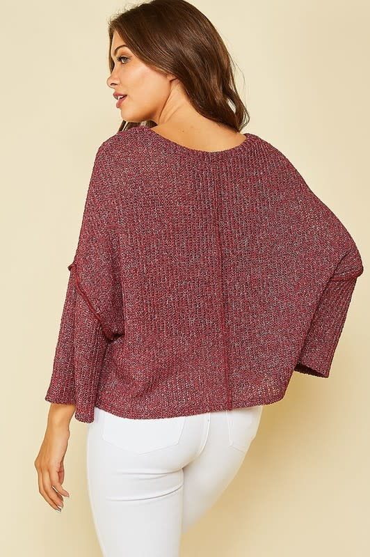 Wine with Everything Bell Sleeve Top -