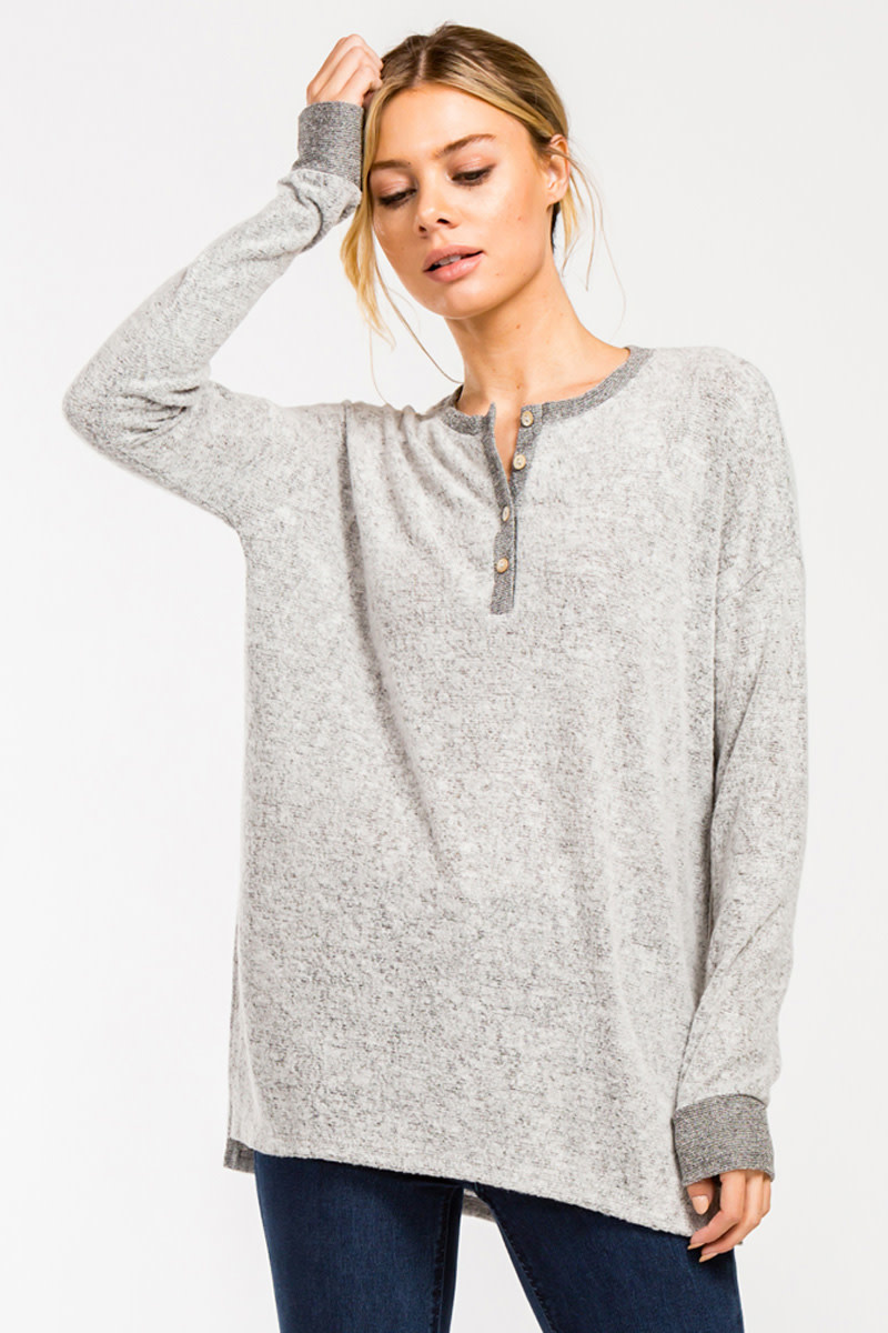Walk In The Park Brush Knit Top -