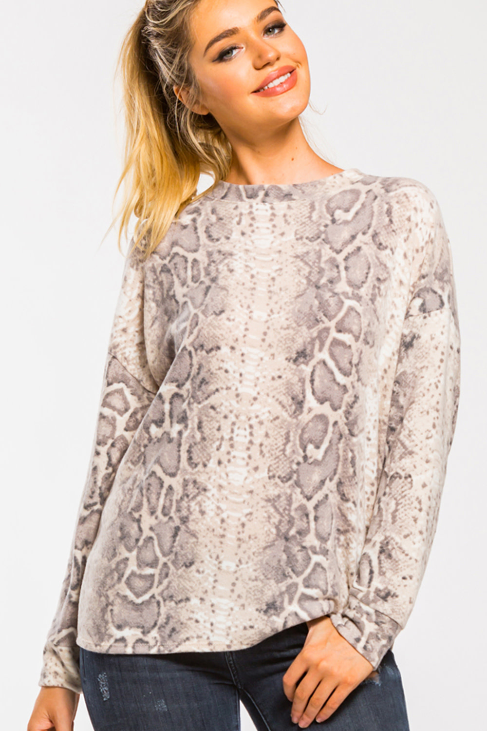 On The Prowl Brushed Knit Top -