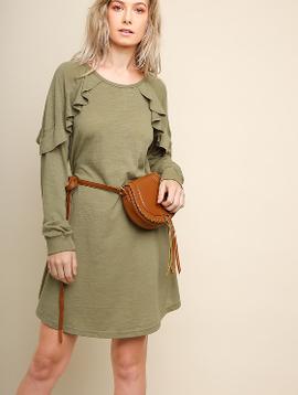 Day of Shopping Ruffle Detail Dress -