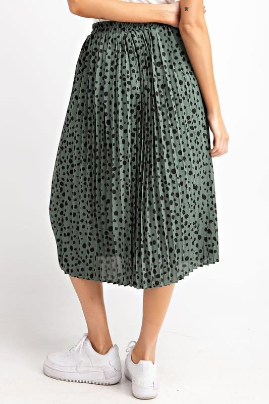 It Hits The Spot Pleated Skirt -