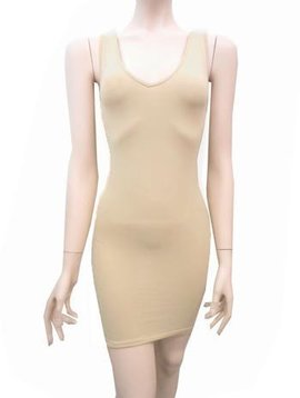 Wide Strap Rev Tank Dress -